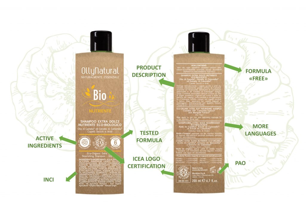 OllyNatural label product